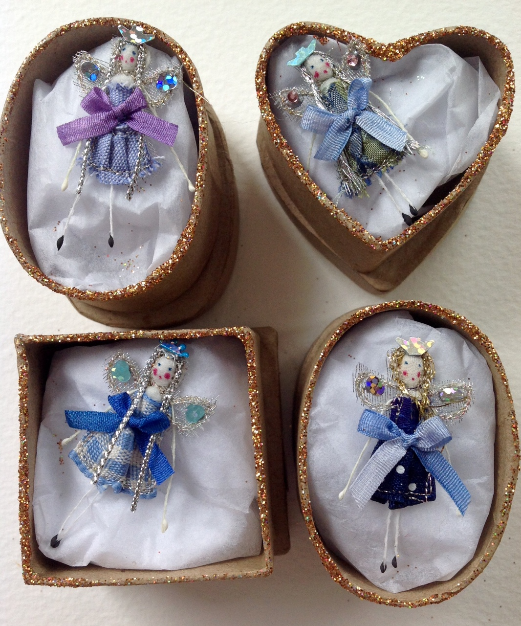 4cm fairies in boxes with their secret names in the lid. £8 plus £3 p&p.