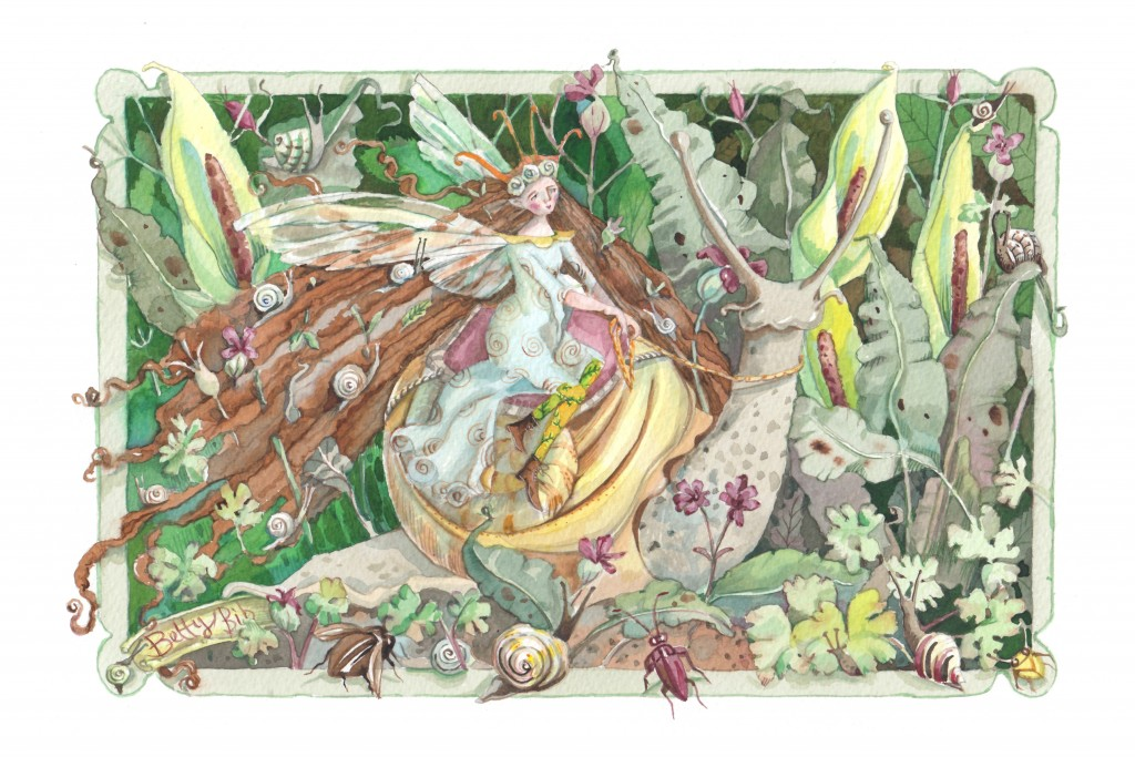 SNAIL QUEEN 13.5 x9 inches Giclee print on German etching paper with archival inks. £60 including UK postage and packing (£65 international ).